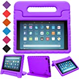 BMOUO Case for All-New Fire HD 8 2017/2018 - Light Weight Shock Proof Convertible Handle Kid-Proof Cover Kids Case for All-New Fire HD 8 Tablet (7th and 8th Generation, 2017 and 2018 Release), Purple