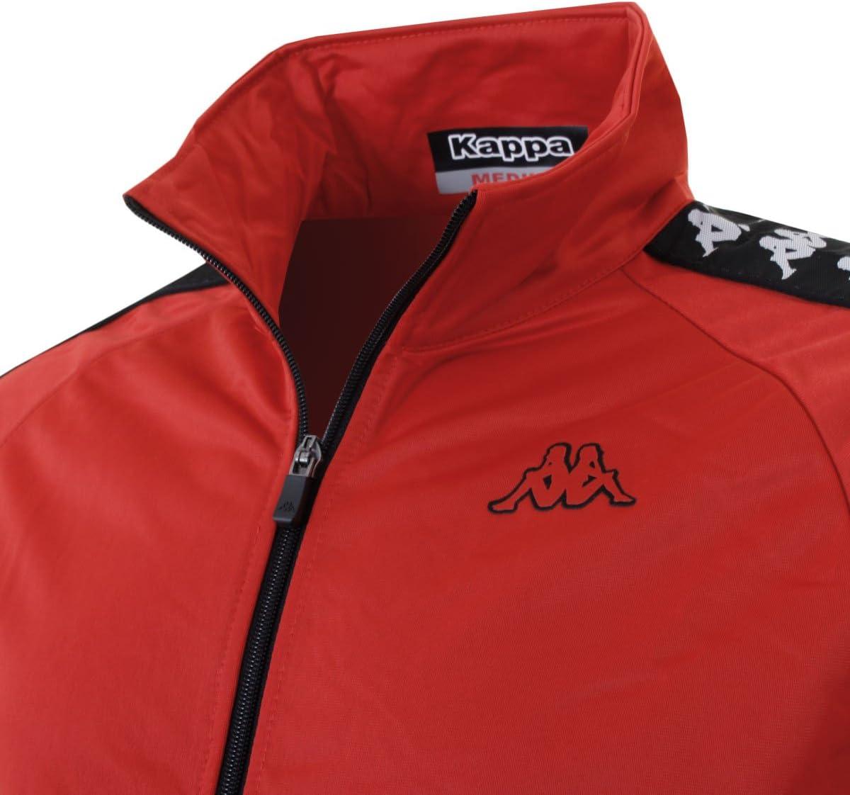 Kappa Top Anniston Chaqueta de chándal, Red (Red/Black), X-Large ...