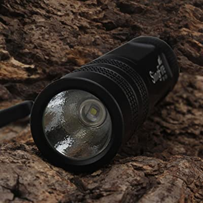 Lumière LED Lampes de poche avec sangle–Noir