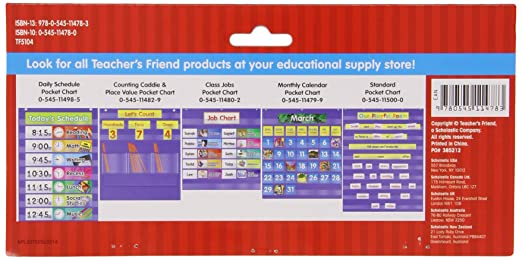 Amazon.com : Scholastic File Organizer Pocket Chart (TF5104 ...