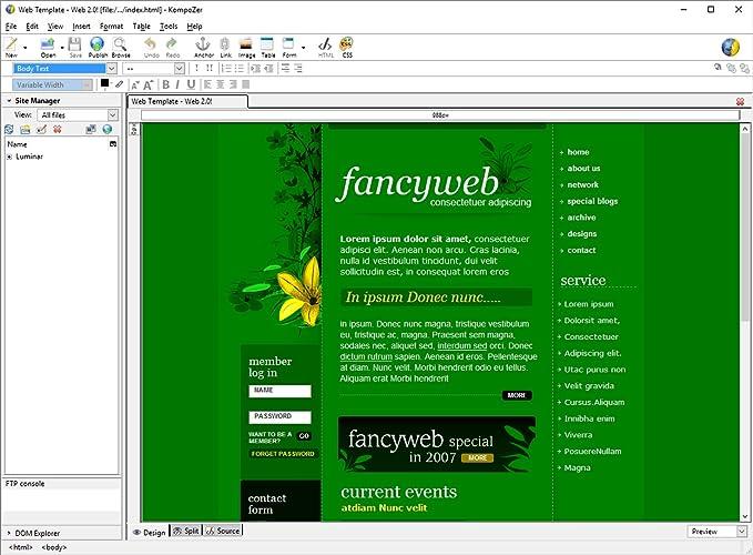 Kompozer - Web Design Software - Create your own amazing website ...