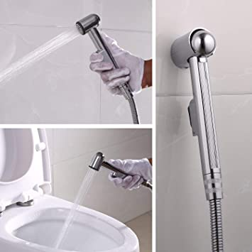 Handheld Bidet Toilet Sprayer With 47inch Anti Leaking Stainless Steel Hose Cloth Diaper Sprayer Clean Washer For Personal Hygiene Feminine Use Pets Shower Amazon Com