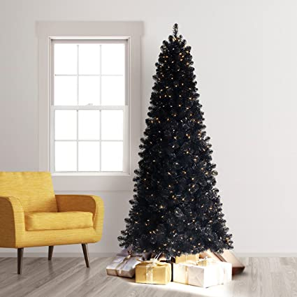 treetopia basics black artificial christmas tree 6 feet clear lights - Black Artificial Christmas Tree