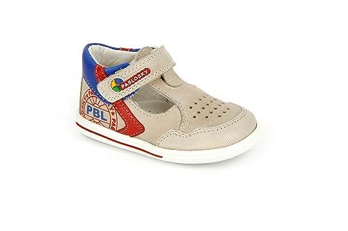 Zapatos blancos con velcro Pablosky infantiles SFffN3GO