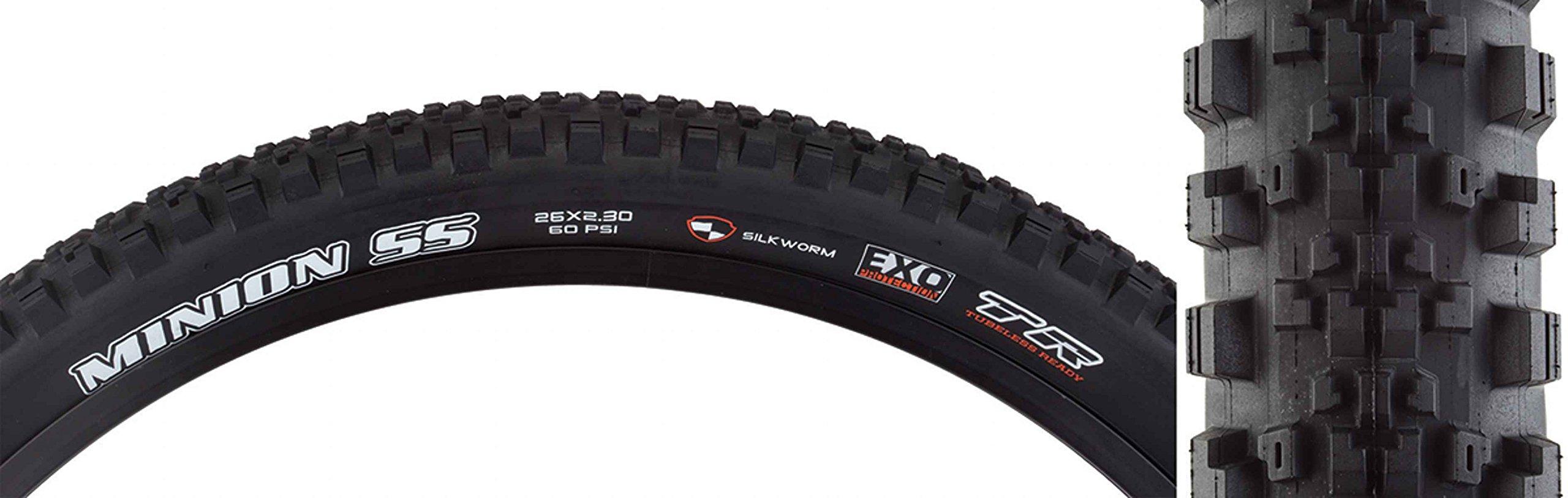 Maxxis Minion SS DC/SW/EXO/TR Tire Max Minion Ss 26x2.3 Bk Fold/60 Sw/dc/exo/tr