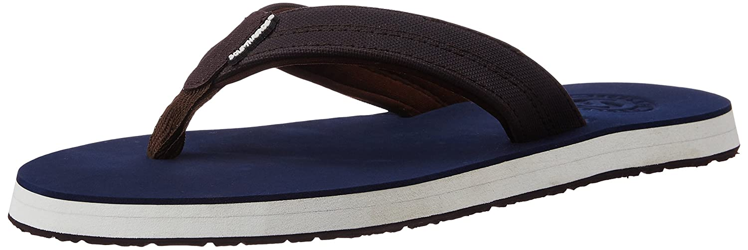 a64861170 Sole Threads Men s Swoosh Navy and Brown Flip Flops Thong Sandals - 11  UK India (45 EU)(8911104599)  Buy Online at Low Prices in India - Amazon.in