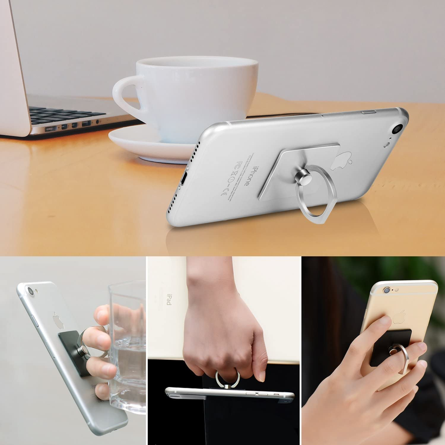 ELPMKIJN Cell Phone Finger Holder 360 Rotation Universal Smartphone Ring Grip Stand Car Mounts Phone Bracket Kickstand For Iphone Summer Llama