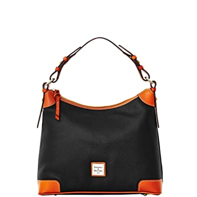 b06d68721 Amazon.com: Dooney & Bourke Pebble Grain Leather Hobo Black: Shoes