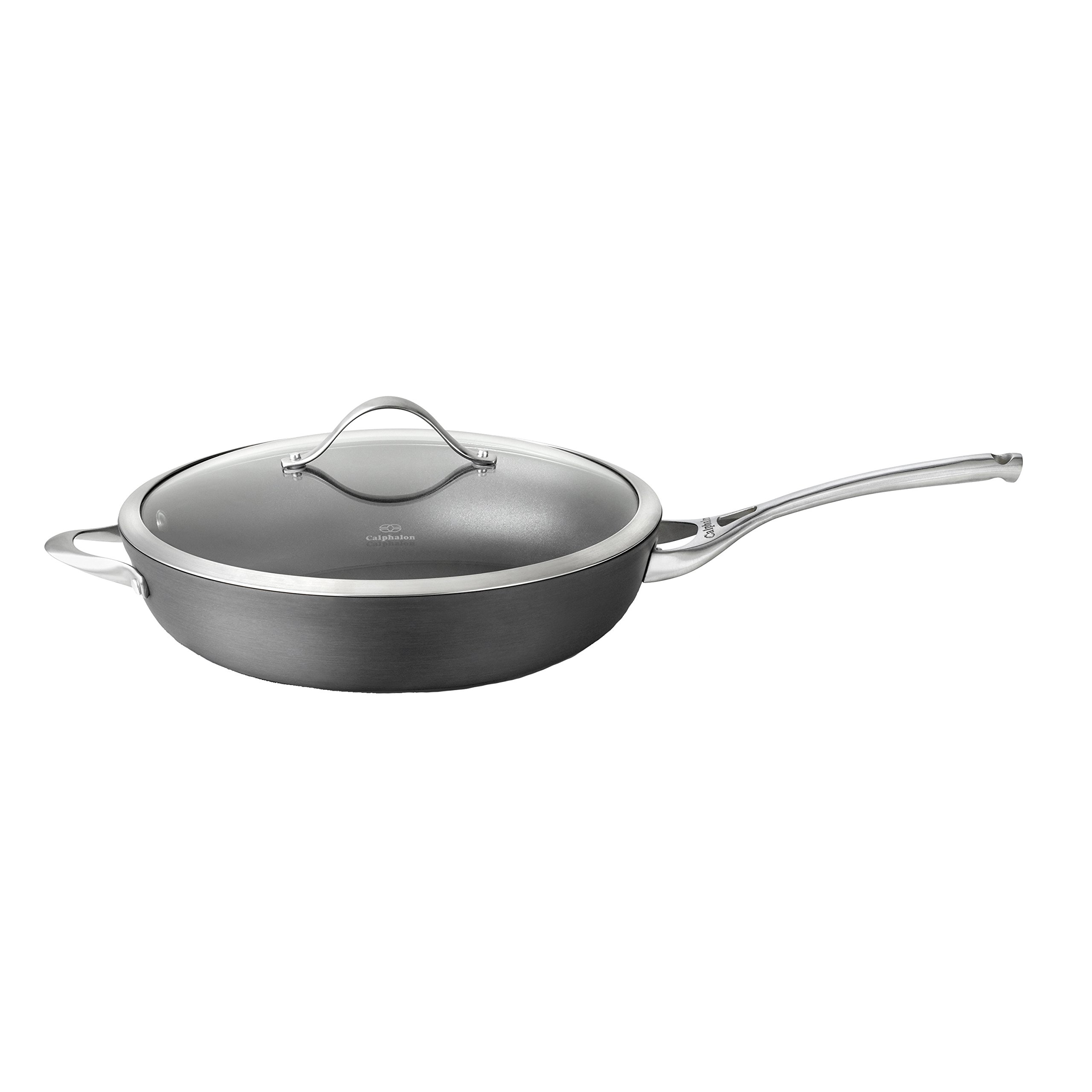 Calphalon Contemporary Hard-Anodized Aluminum Nonstick Cookware, Deep Skillet, 13-inch, Black