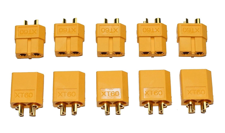 10 Stück (5 Paar) Nylon XT60 Hochstrom Stecker - Connector - XT 60 ...