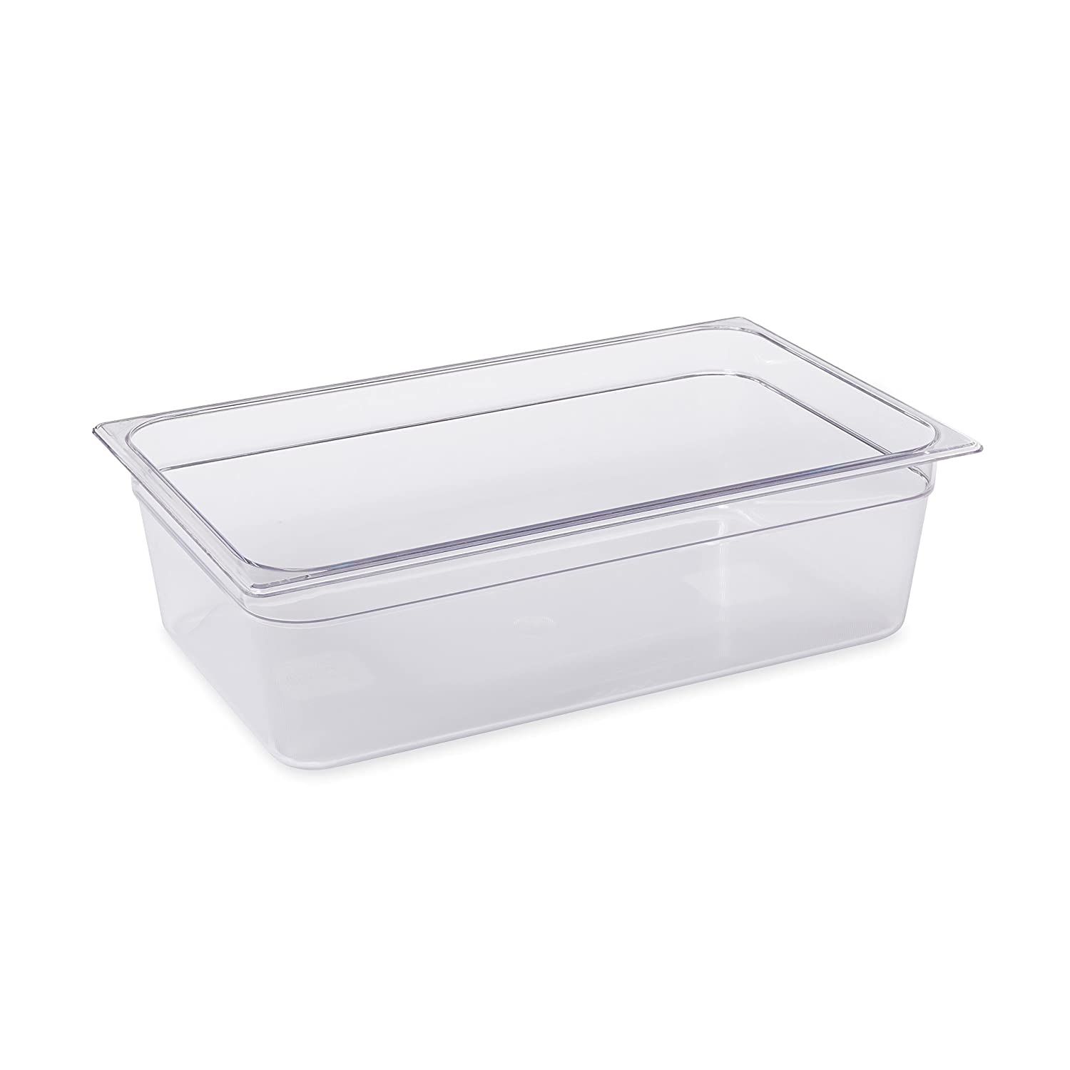 Rubbermaid Commercial Products Cold Food Insert Pan for Restaurants/Kitchens/Cafeterias, Full Size, 6 Inches Deep, Clear (FG132P00CLR)