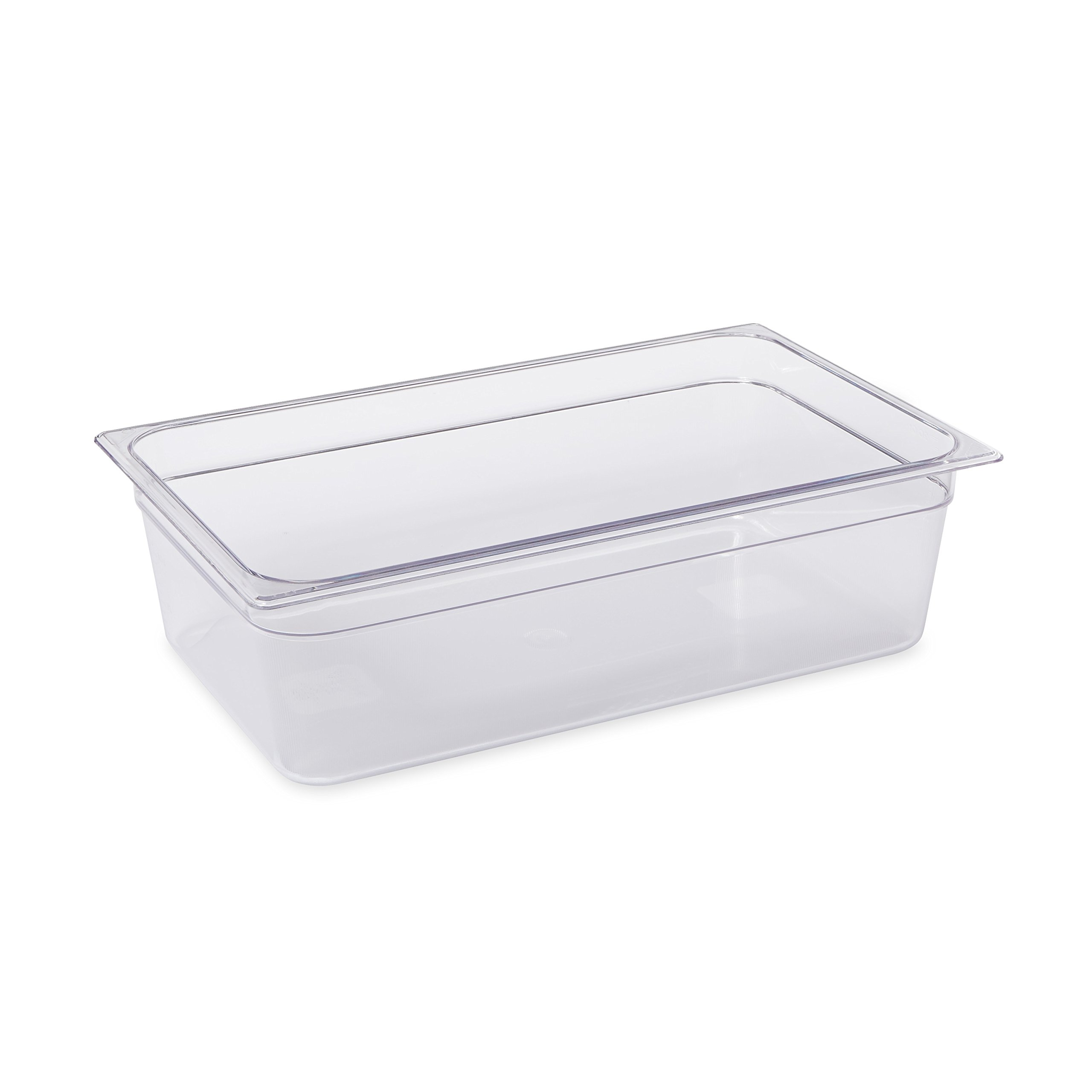 Rubbermaid Commercial Products Cold Food Insert Pan for Restaurants/Kitchens/Cafeterias, Full Size, 6 Inches Deep, Clear (FG132P00CLR) by Rubbermaid Commercial Products