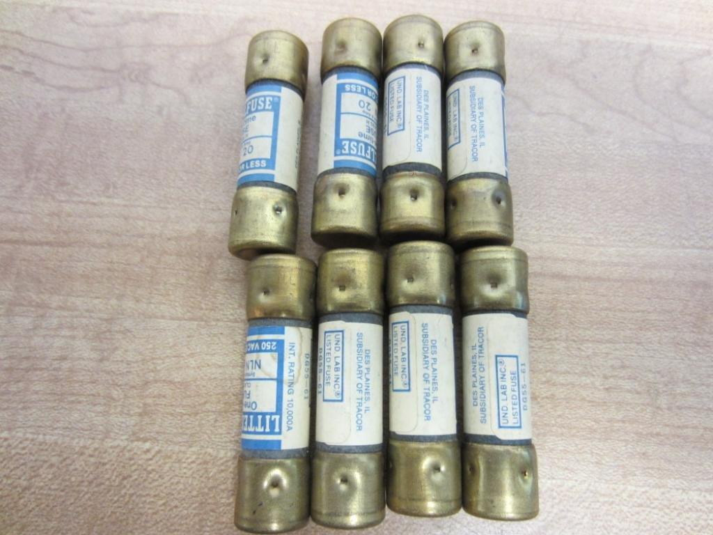 Littelfuse NLN 20 NLN20 Fuses (Pack of 8)