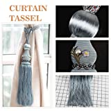 KISENG 1 Pair Beaded Tassels Curtain Tiebacks