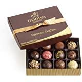 Godiva Chocolatier Assorted Chocolate Truffles Gift Box, Gold Ribbon, 12-Pieces, 8.3 Ounce (Pack of 1)