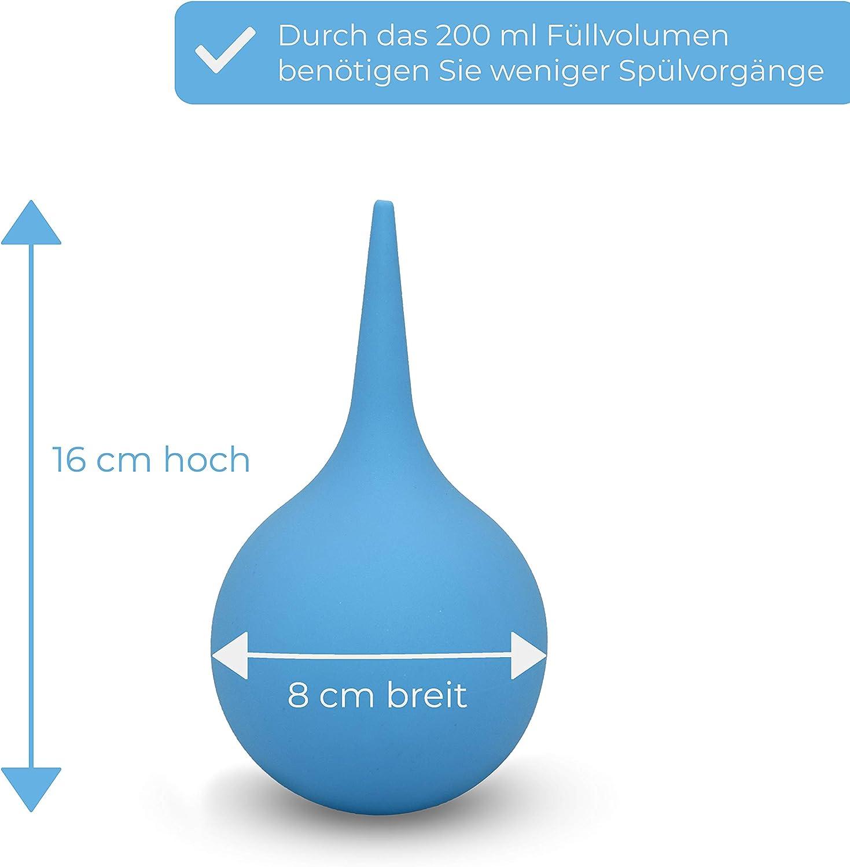 Premium Ear Cleaner dAvaura au concept am/élior/é Seringue auriculaire m/édicale de grande capacit/é 2018 Douche auriculaire optimale pour enlever le c/érumen - 200ml Comprend E-Book Bleu