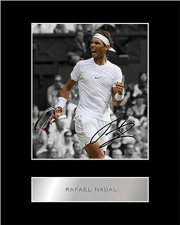 Rafael Nadal Firmado Foto enmarcada: Amazon.es: Hogar