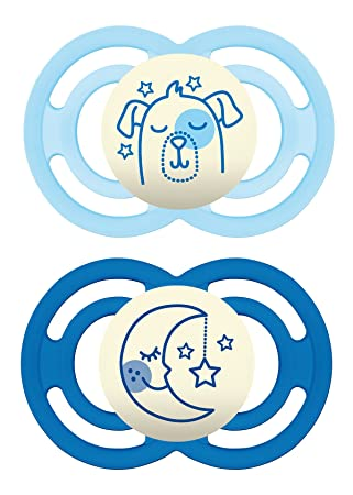 Amazon.com: MAM Perfect Night 2 Piece Baby Pacifier, Niño: Baby