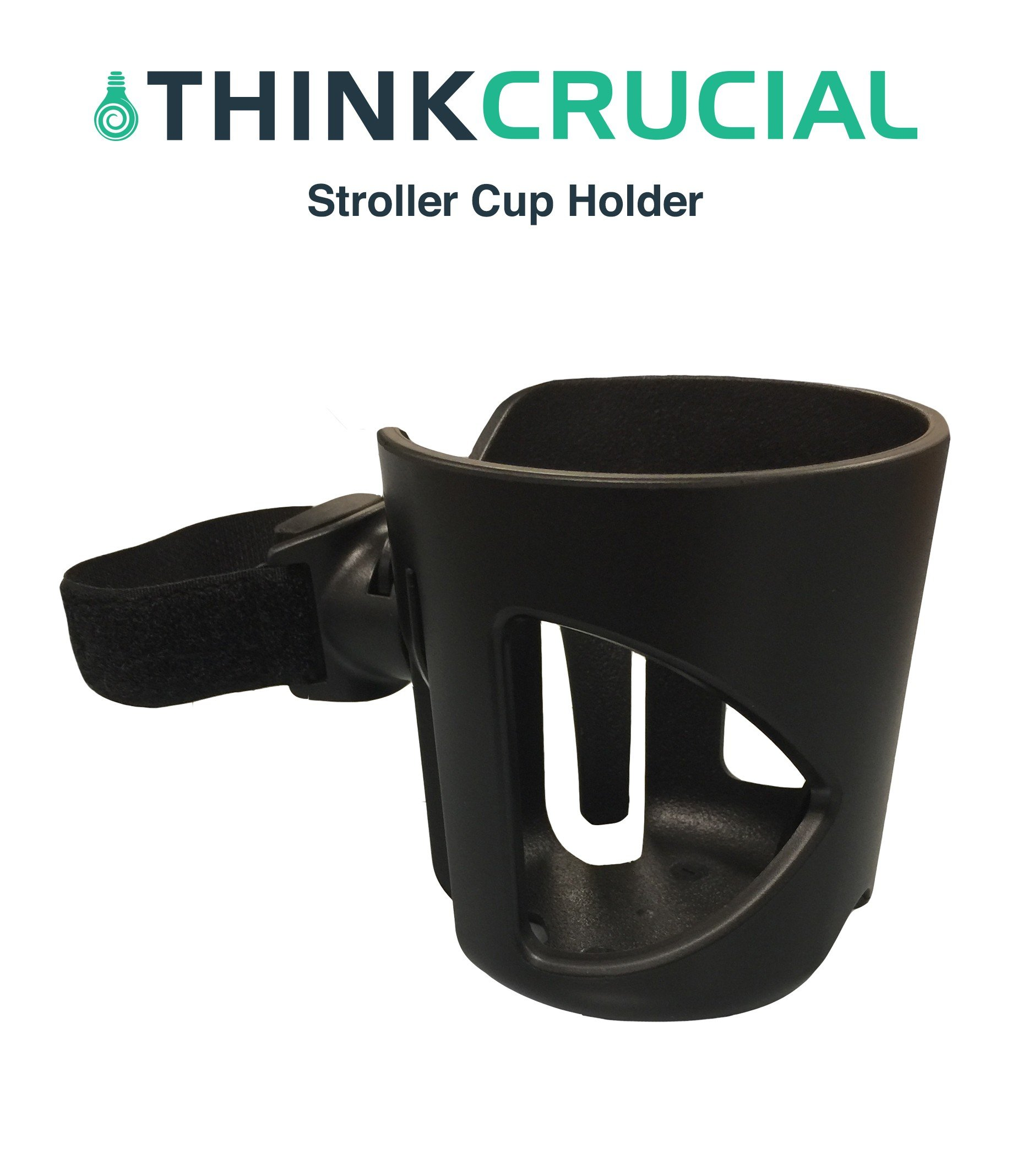 Replacement for Universal Stroller Cup Holder, Fits BabyHome, Baby Jogger, Britax, Bugaboo, Bumbleride, Chicco & More, by Think Crucial by Think Crucial (Image #1)
