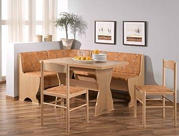 Expendio Eckbankgruppe Polly Buche Terracotta 2x Stuhl Tisch Bank