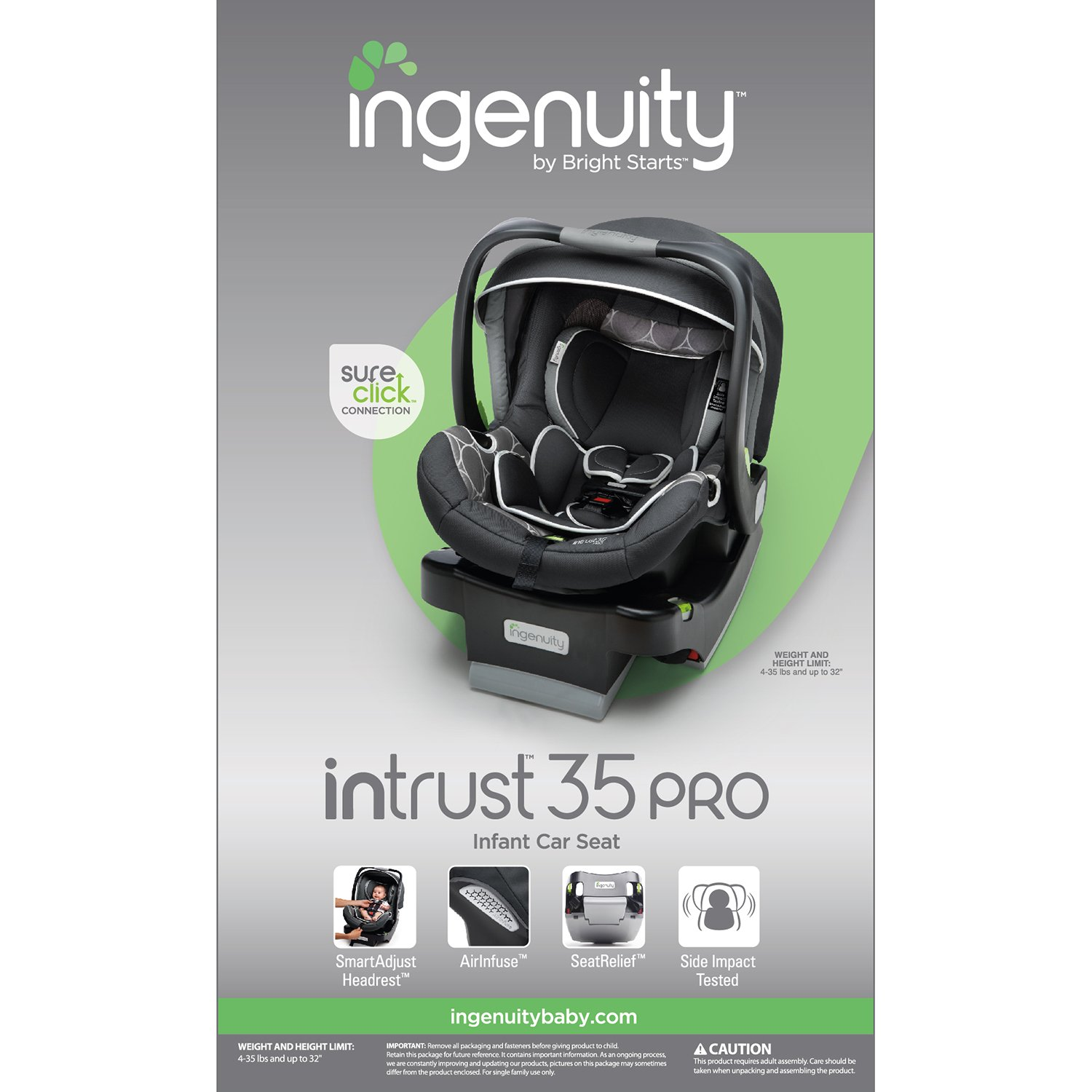 Buy Ingenuity InTrust 35 Pro Infant Car Seat Larson Discontinued By Manufacturer Online At Low Prices In India