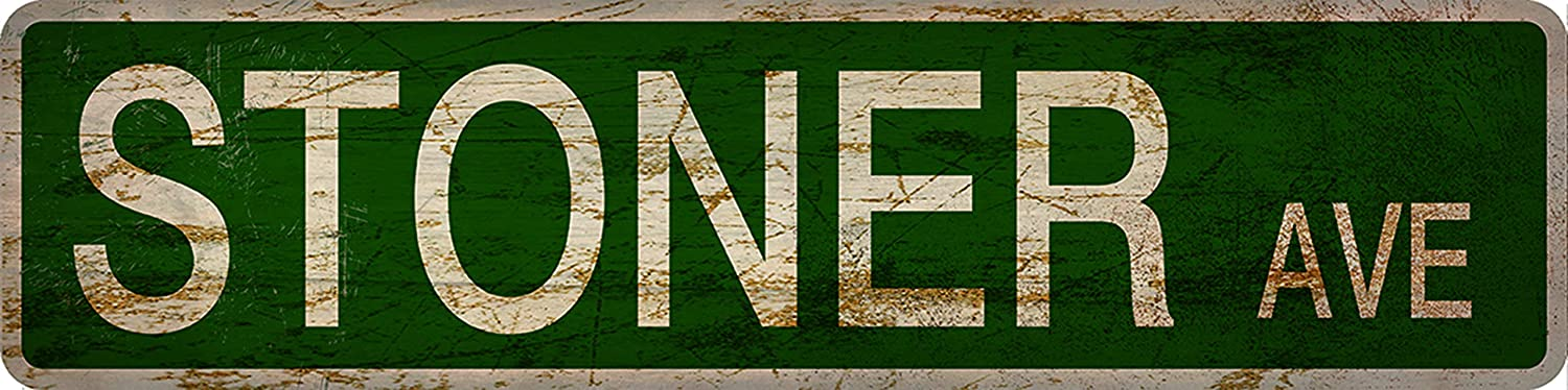 Mariasign Stoner Avenue Street Sign Vintage Rustic Retro 4x16 inch Tin Sign Wall decortion