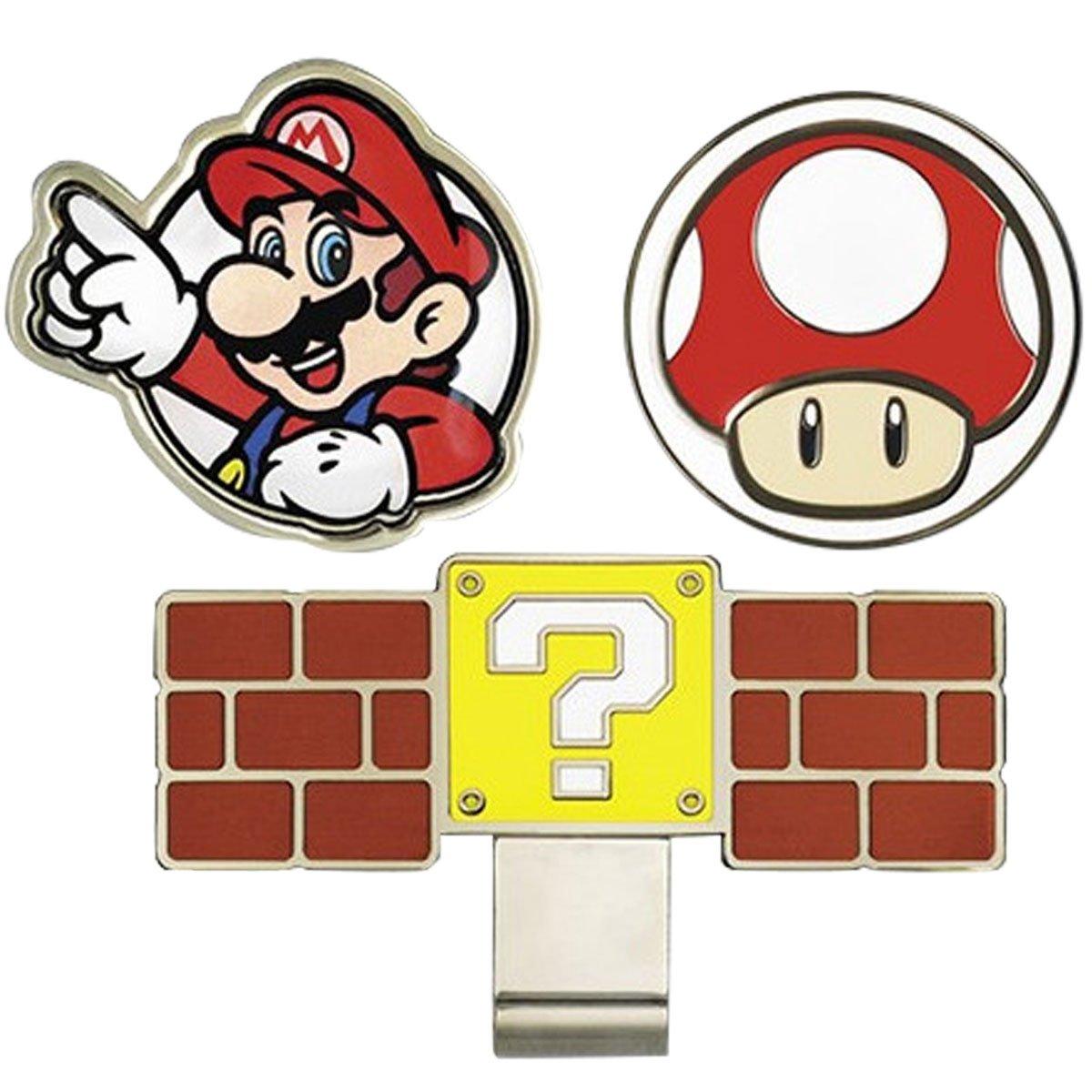 Super Mario Bros, Pelota de Golf Marcadores con Enganche para ...