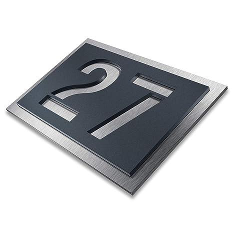 Número de casa de Metzler-Trade, de acero inoxidable, color ...