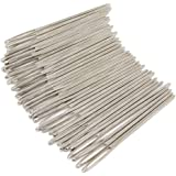yueton 40pcs 2.7 inch Metal Large Eye Blunt Needles Yarn Needles for Knitting Crochet Projects (Sliver End)