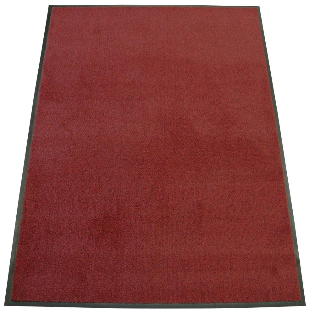 Rubber-Cal Soft Top Olefin Carpet Mat - 4ft x 10ft - Red Commercial Door Mats