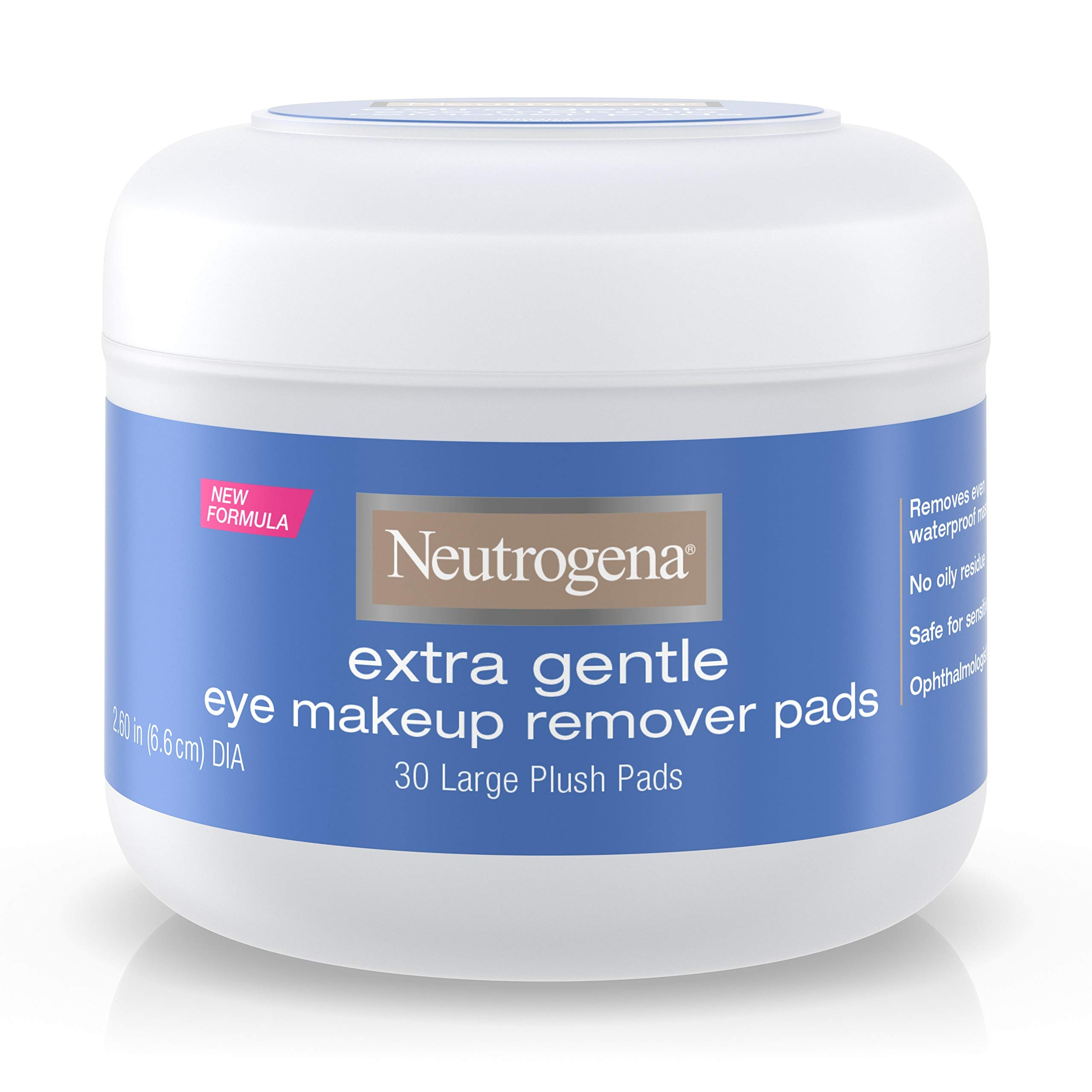 Neutrogena Extra Gentle Eye Makeup Remover Pads, Sensitive Skin 30 Count (Pack of 2) by Neutrogena