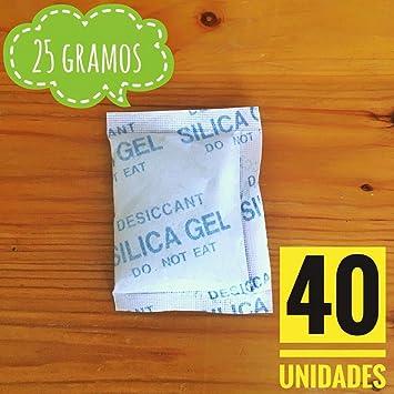 Sílica gel | 40 x 25g | Bolsas desecantes | Productos Antihumedad ...