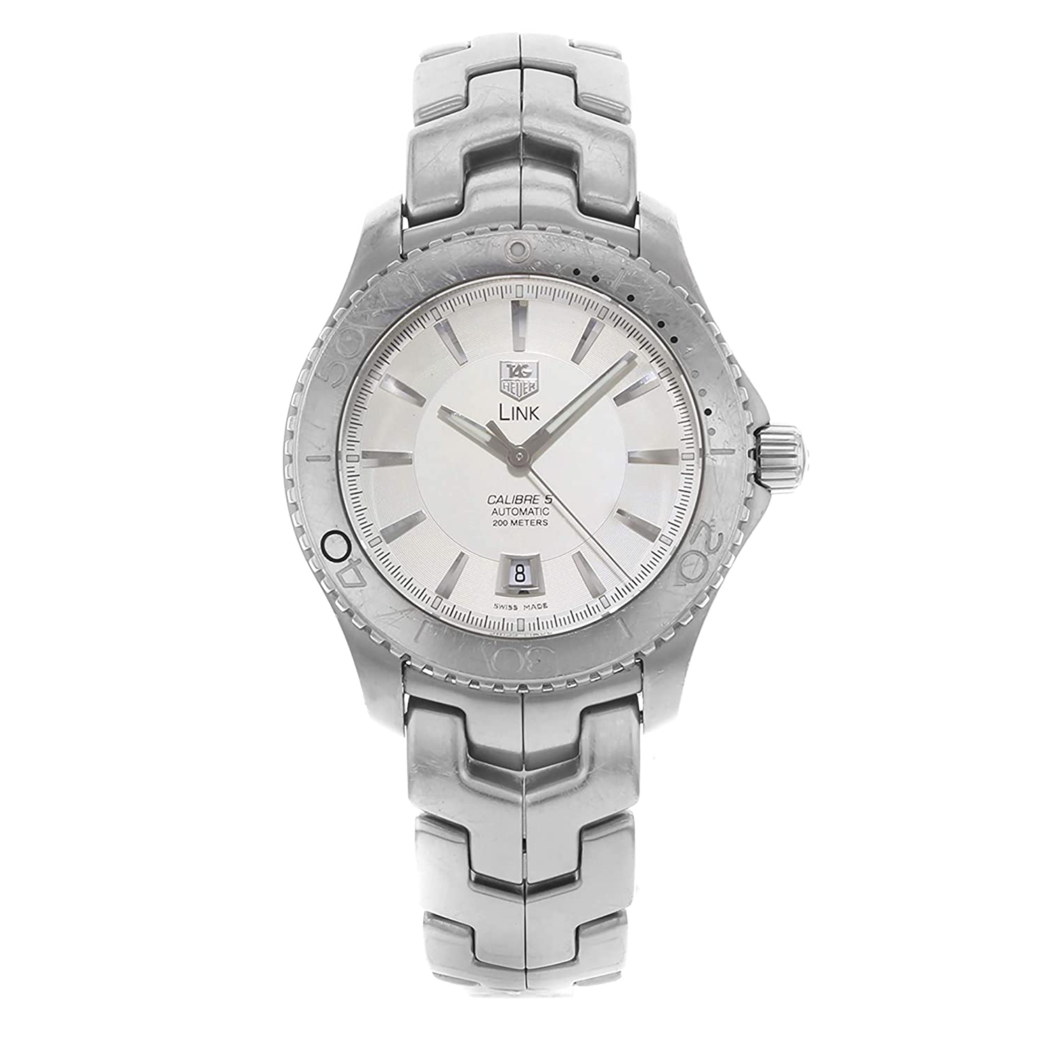 76ddffb5a31 Amazon.com: TAG Heuer Men's WJ201B.BA0591 Link Caliber 5 Automatic Watch: Tag  Heuer: Watches