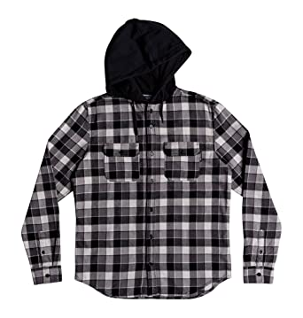 adaeeebc7 Amazon.com: DC Shoes Boys Shoes Boy's 8-16 Runnels Long Sleeve Hooded Flannel  Shirt Edbwt03046: Clothing