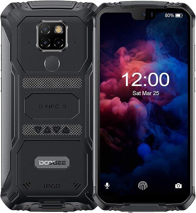 DOOGEE S68 Pro Movil Antigolpes Todoterreno 4G, Helio P70 Octa Core 6GB + 128GB, IP68 Smartphone Libres Antigolpes Android 9.0, 6300mAh, Cámara 21MP+16MP, 5.9 Inch FHD+, NFC Carga Inalámbrica, Negro: Amazon.es: Electrónica