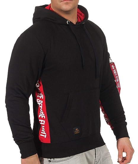 4e5e1fa696a755 Alpha Industries Herren Sweatshirt RBF Inlay Hoody  Amazon.de ...