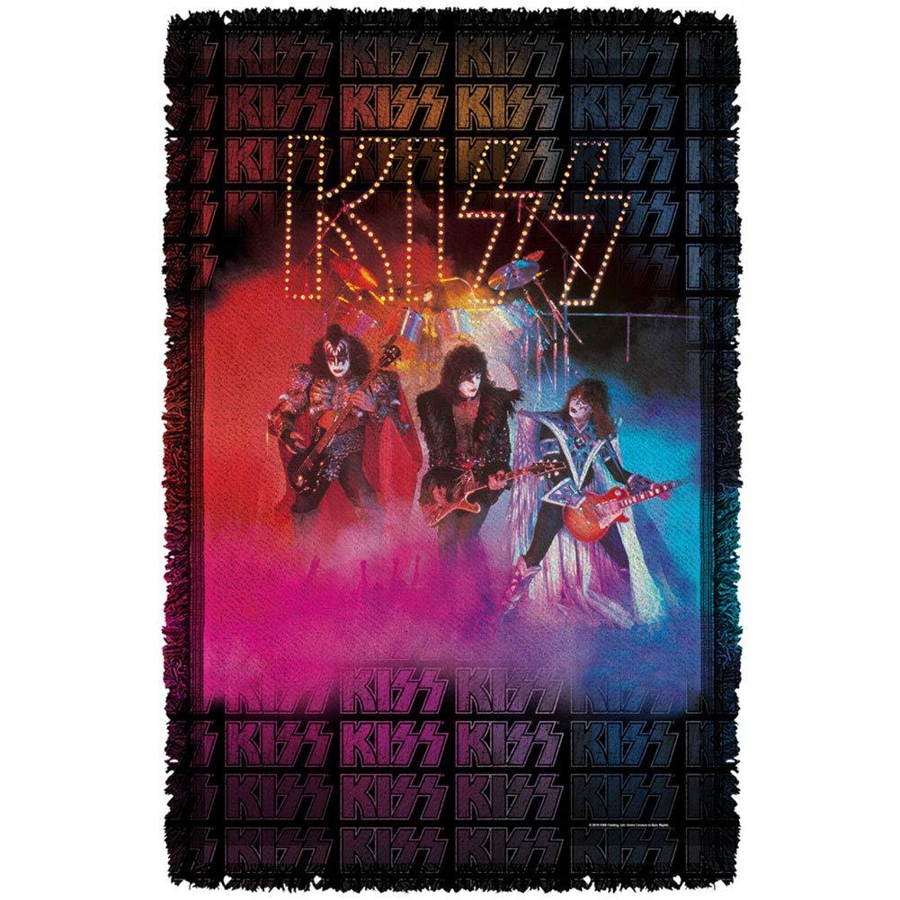 KissステージライトWoven Throwタペストリーホワイト B01MXDH1SH ホワイト 48x80