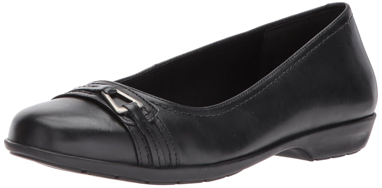 Walking Cradles Women's Flynn Loafer Flat B071VWSB38 5 B(M) US Black Leather