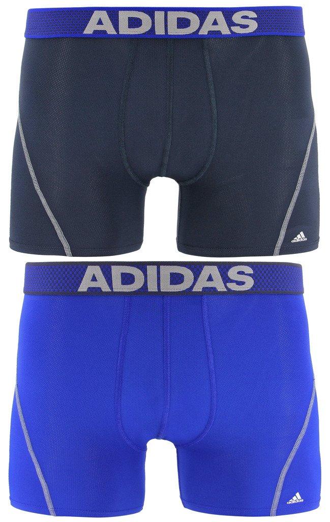 adidas Men's Sport Performance Mesh Trunks Underwear (2-Pack), Urban Sky/Bold Blue Bold Blue/Urban Sky, SMALL by adidas