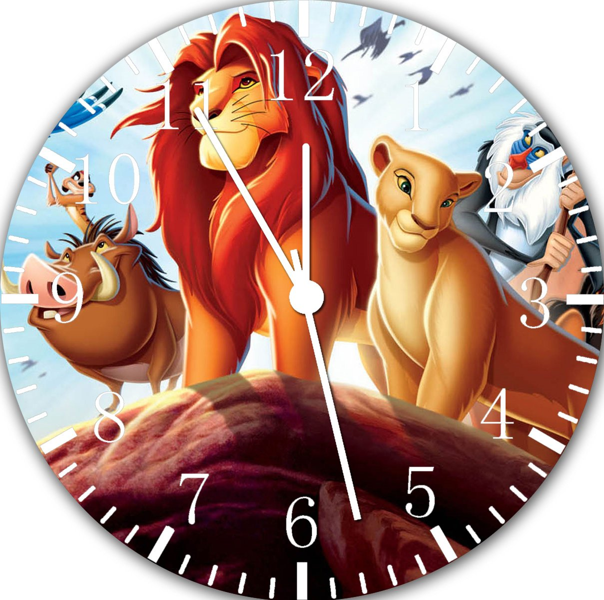 Disney Lion King Wall Clock 10 Will Be Nice Gift and Room Wall Decor E120 RUSCH