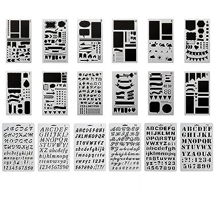 magicmai bullet journal stencil plastic planner stencils and alphabet stencil letter stencil templates set for journaling