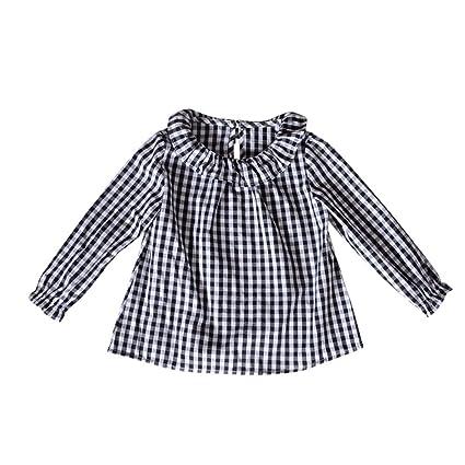 feiXIANG Black Five Cyber Monday Ropa para bebé Niño niña Bebé niña Muñeca de algodón Camisa. Pasa ...