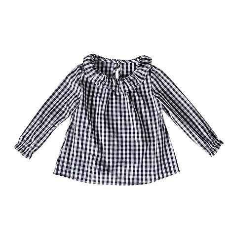 feiXIANG Black Five Cyber Monday Ropa para bebé Niño niña Bebé niña Muñeca de algodón Camisa