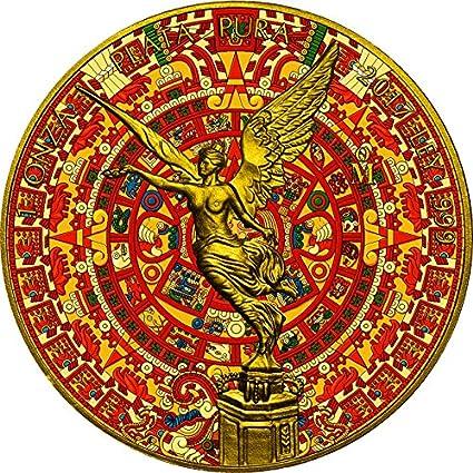 Power Coin Aztec Calendar Calendario Azteca Libertad 1 Oz Moneda Plata Mexico 2017: Amazon.es: Juguetes y juegos