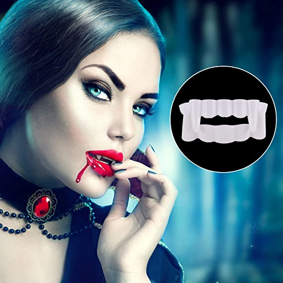 Amazon.com: Tatuo 24 Pieces White Vampire Teeth Fake Vampire Costume Fangs Accessory for Halloween Cosplay Party Favors Decoration: Toys & Games