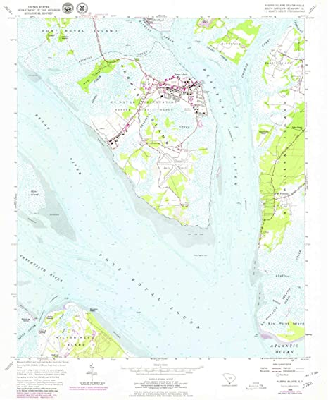 Amazon Com Yellowmaps Parris Island Sc Topo Map 1 24000 Scale