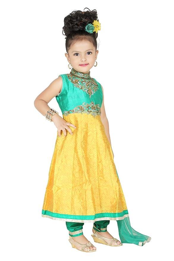 Baby Girl Salwar Suit New Born Infant Frock Suit Churidar Dress Wedding Prom Partywear + Leggings Toddler Ethnic Traditional Dupatta Suit: Amazon.co.uk: ...