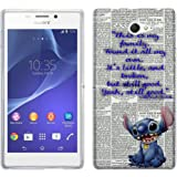 458 - stitch ohana this is my family Design Sony Xperia M2 Fashion Trend Protecteur Coque Gel Rubber Silicone protection Case Coque