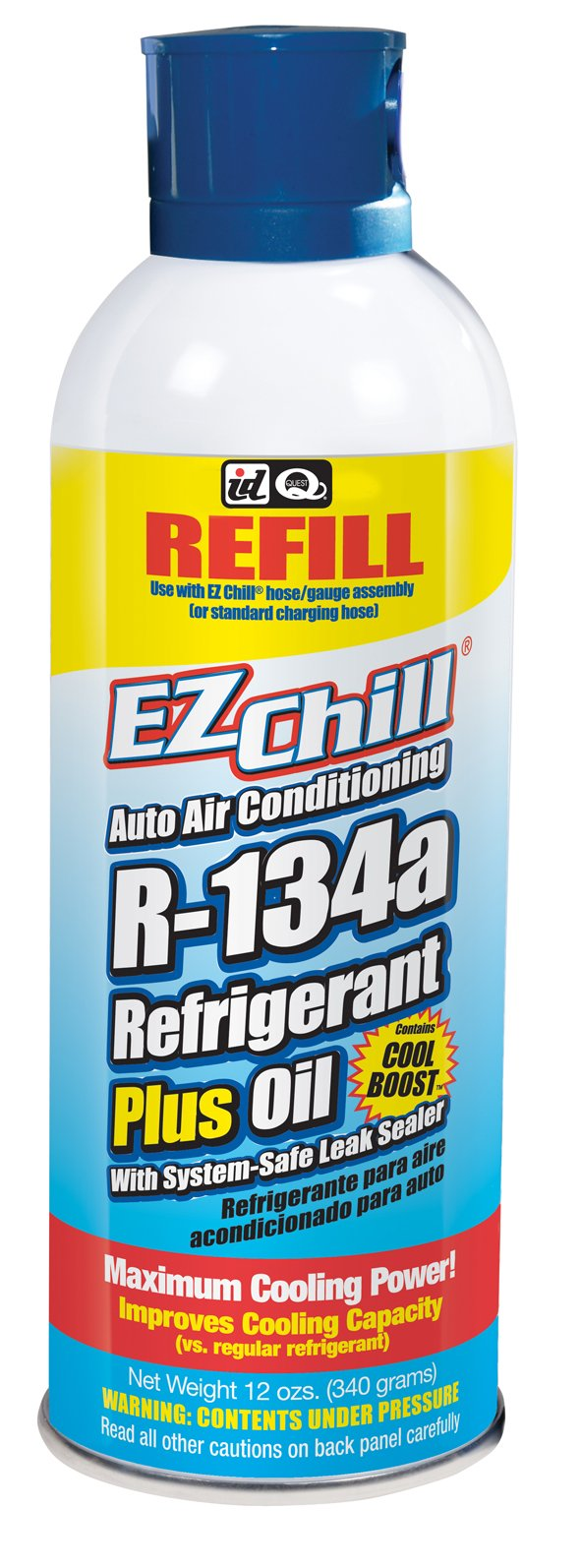 Interdynamics EZ Chill Refrigerant R-134a With Oil And Leak Sealer (12 ounces)