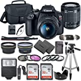 Canon EOS Rebel T7 DSLR Camera Bundle with Canon EF-S 18-55mm f/3.5-5.6 is II Lens + 2pc SanDisk 32GB Memory Cards + Accessor